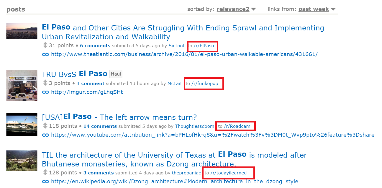 el paso mentions on reddit